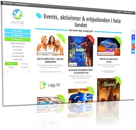 Välkommen till Livity.se - Sveriges nya sökportal för upplevelser!
